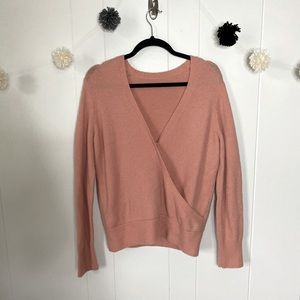 Madewell wool wrap sweater